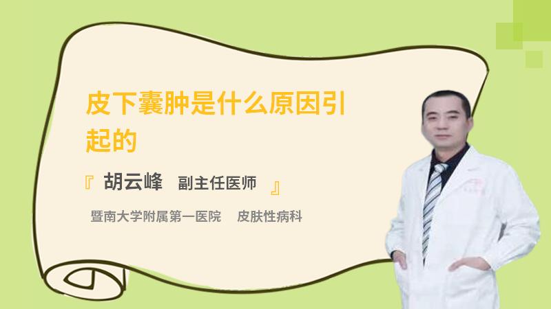 皮下囊肿是什么原因引起的
