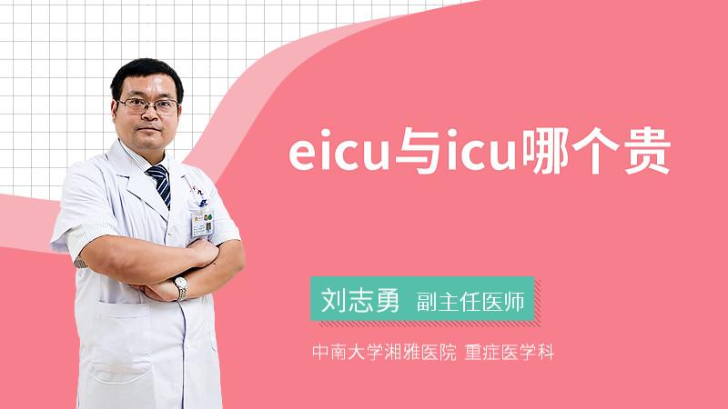 eicu与icu哪个贵