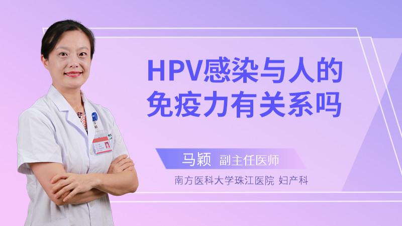 HPV感染与人的免疫力有关系吗