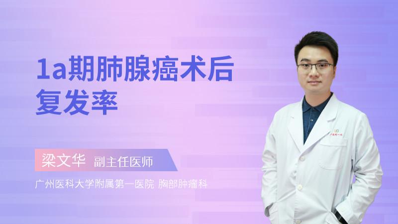 1a期肺腺癌术后复发率
