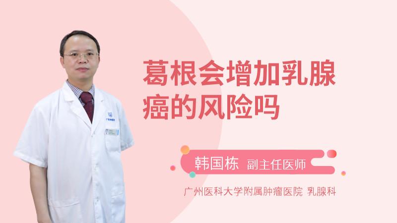 葛根会增加乳腺癌的风险吗
