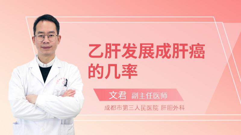 乙肝发展成肝癌的几率